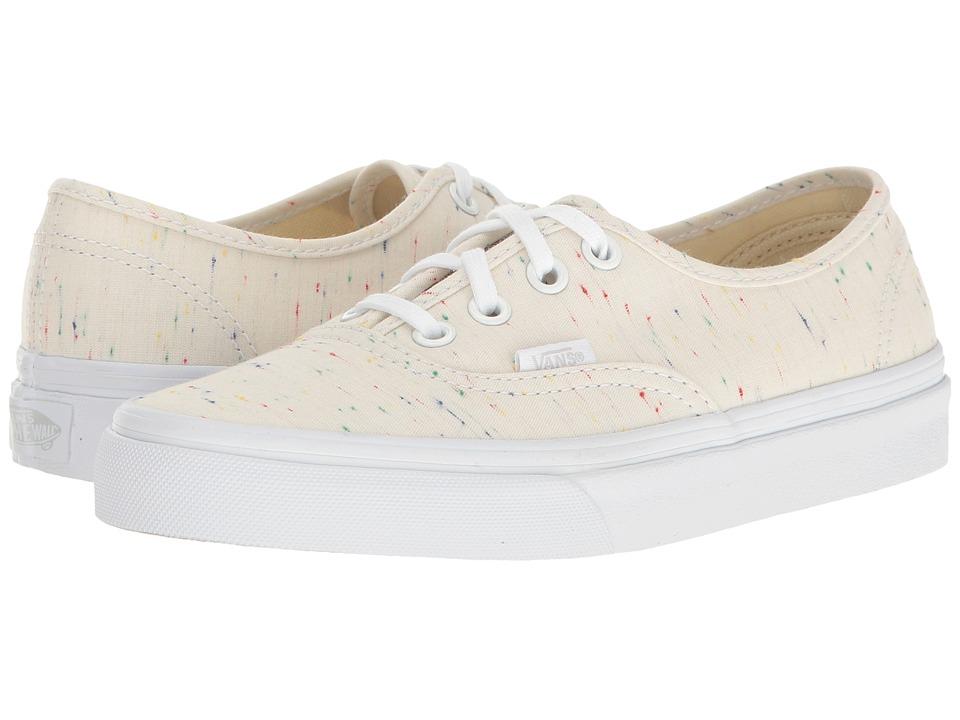 Vans - Authentictm ((Speckle Jersey) Cream/True White) Skate Shoes