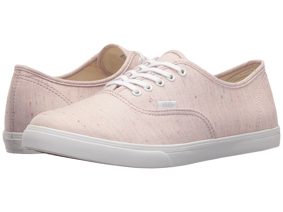 Vans - Authentic Lo Pro ((Speckle Jersey) Pink/True White) Skate Shoes
