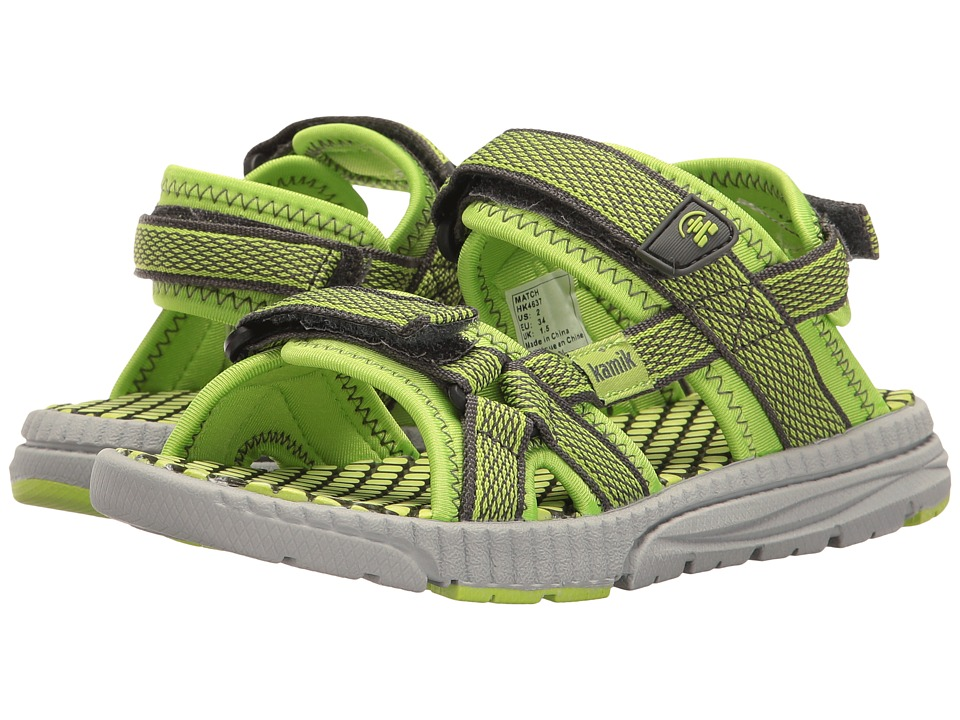 Kamik Kids - Match (Toddler) (Lime) Boys Shoes