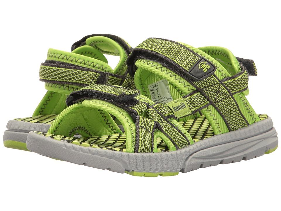 Kamik Kids Match (Little Kid/Big Kid) (Lime) Boys Shoes