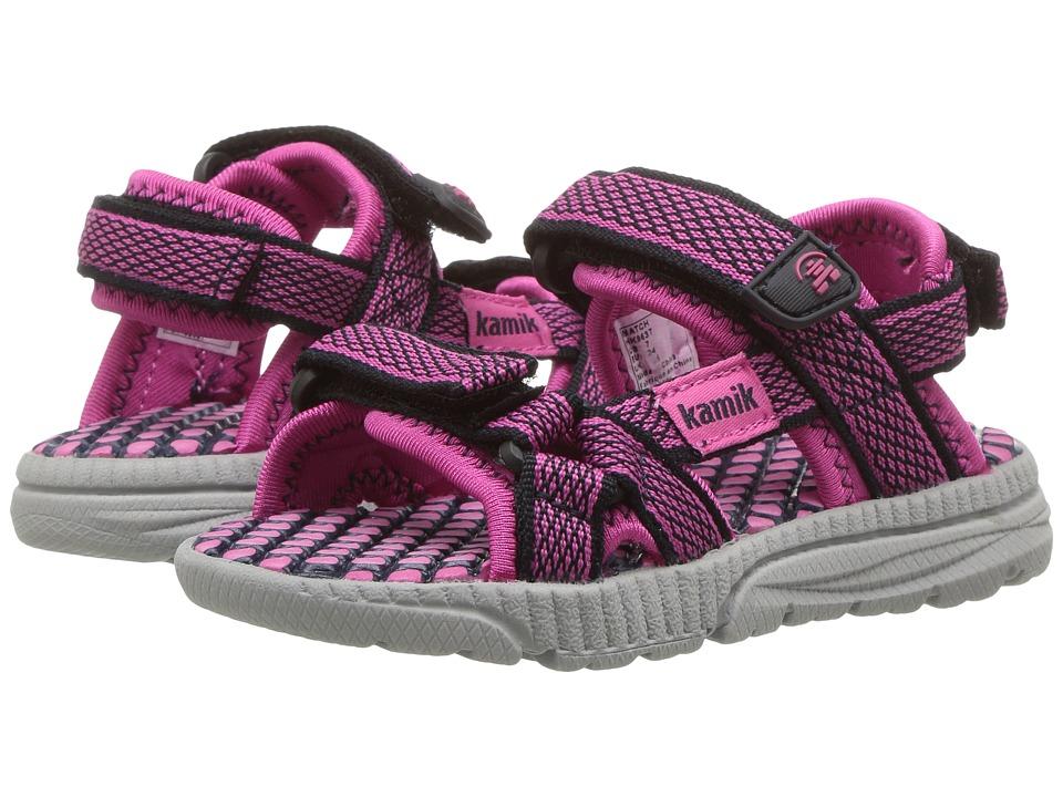 Kamik Kids - Match (Toddler) (Navy/Magenta) Girls Shoes