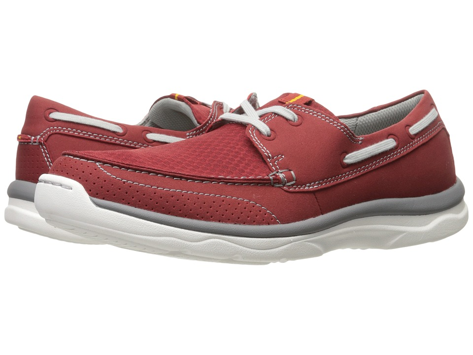 Clarks - Marus Edge (Red Synthetic) Men's Shoes