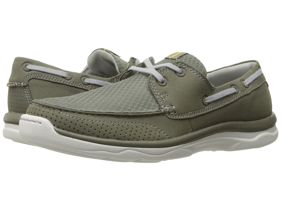 Clarks - Marus Edge (Olive Synthetic) Men's Shoes