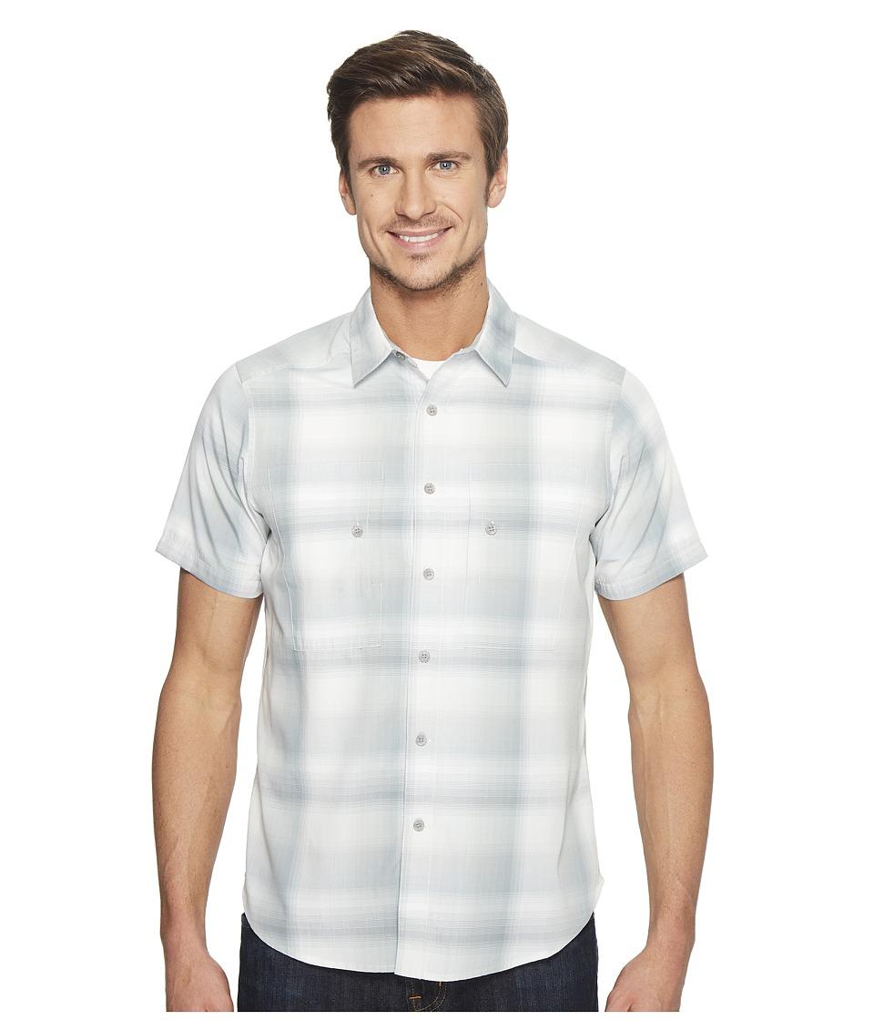 NAU - Short Sleeve Dissolve Shirt (Frost Plaid) Men's Short Sleeve Button Up