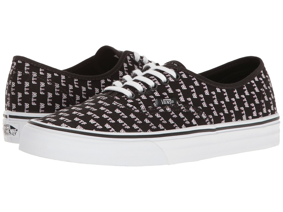 Vans - Authentictm ((Sayings) Black) Skate Shoes