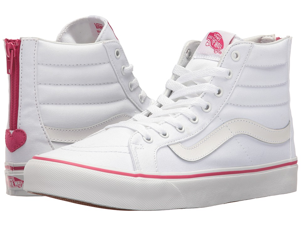 Vans - SK8-Hi Slim Zip ((Valentines) True White/Beet Purple) Skate Shoes
