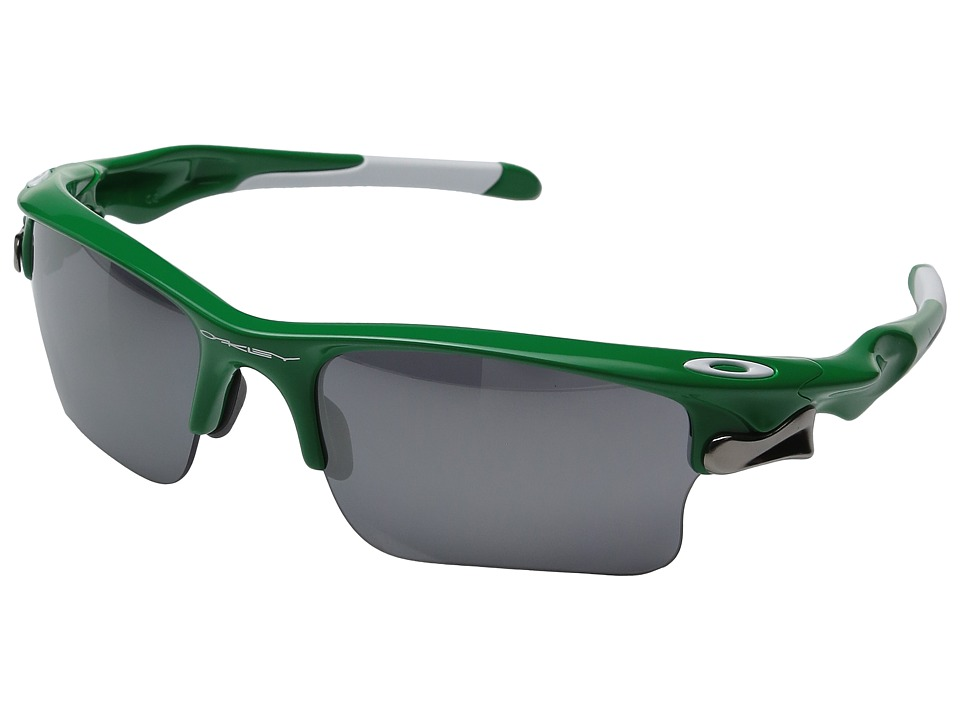 Oakley - Fast Jacket XL (Bright Green w/ Black Iridium) Polarized Sport Sunglasses