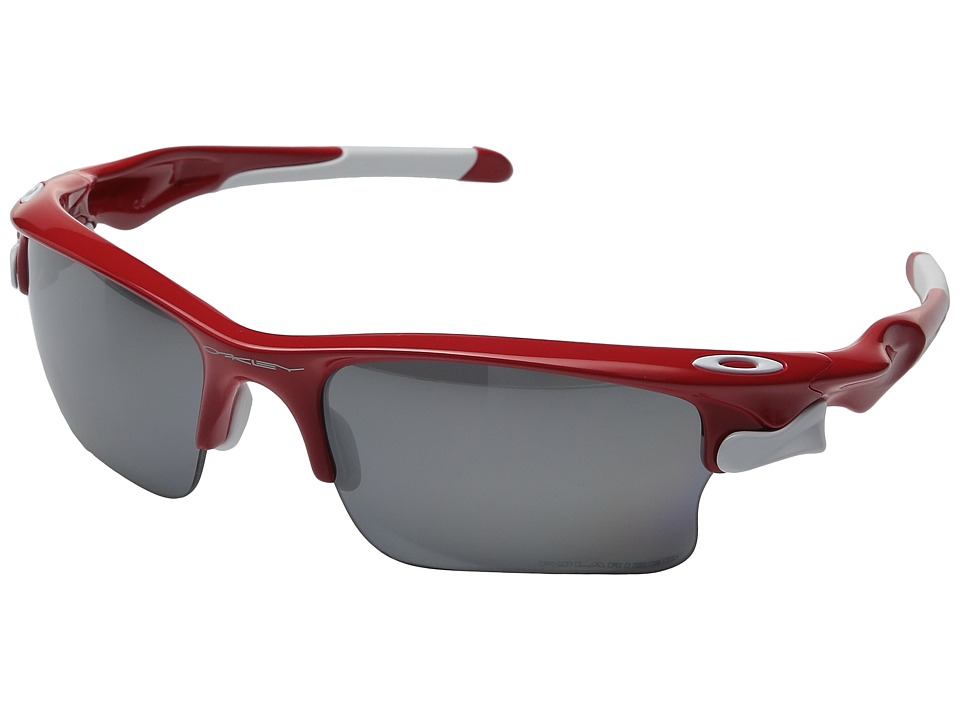 Oakley - Fast Jacket XL (Red w/ Black Iridium Polarized) Polarized Sport Sunglasses