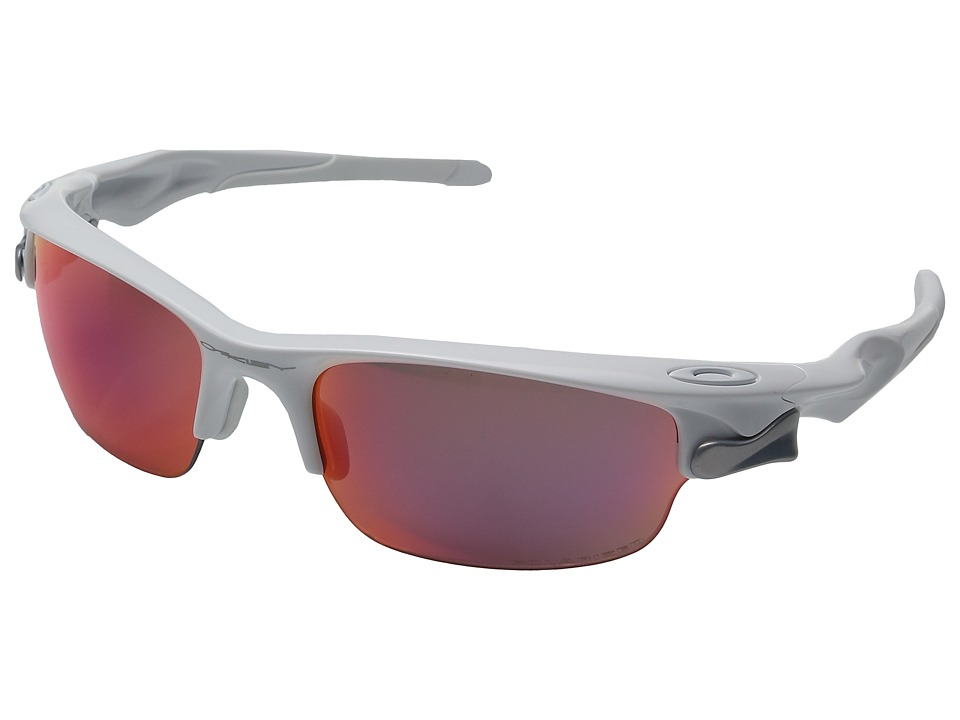 Oakley - Fast Jacket (Polished White w/ Red Iridium Polarized) Sport Sunglasses