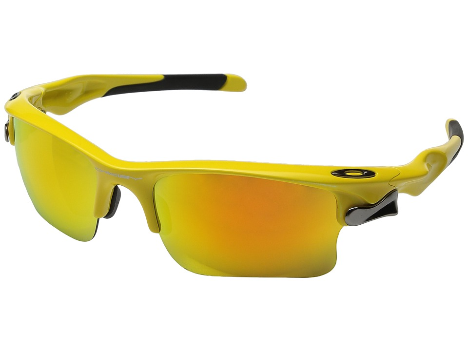 Oakley - Fast Jacket XL (Yellow w/ Fire Iridium) Polarized Sport Sunglasses
