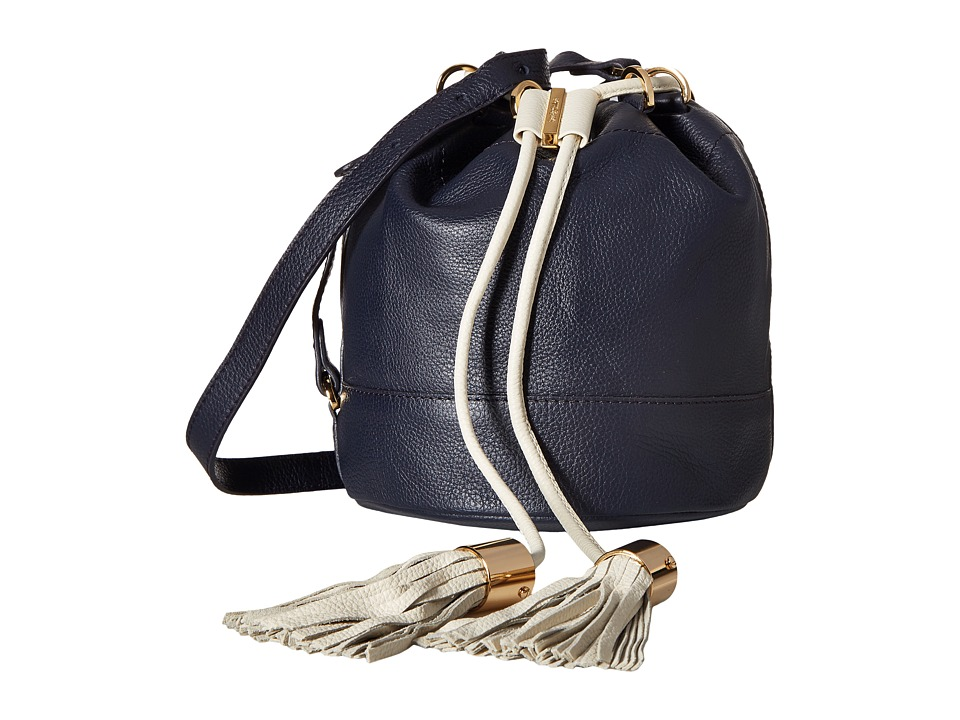 See by Chloe - Vicky Small Bucket Bag w/ Crossbody Strap (Midnight) Cross Body Handbags