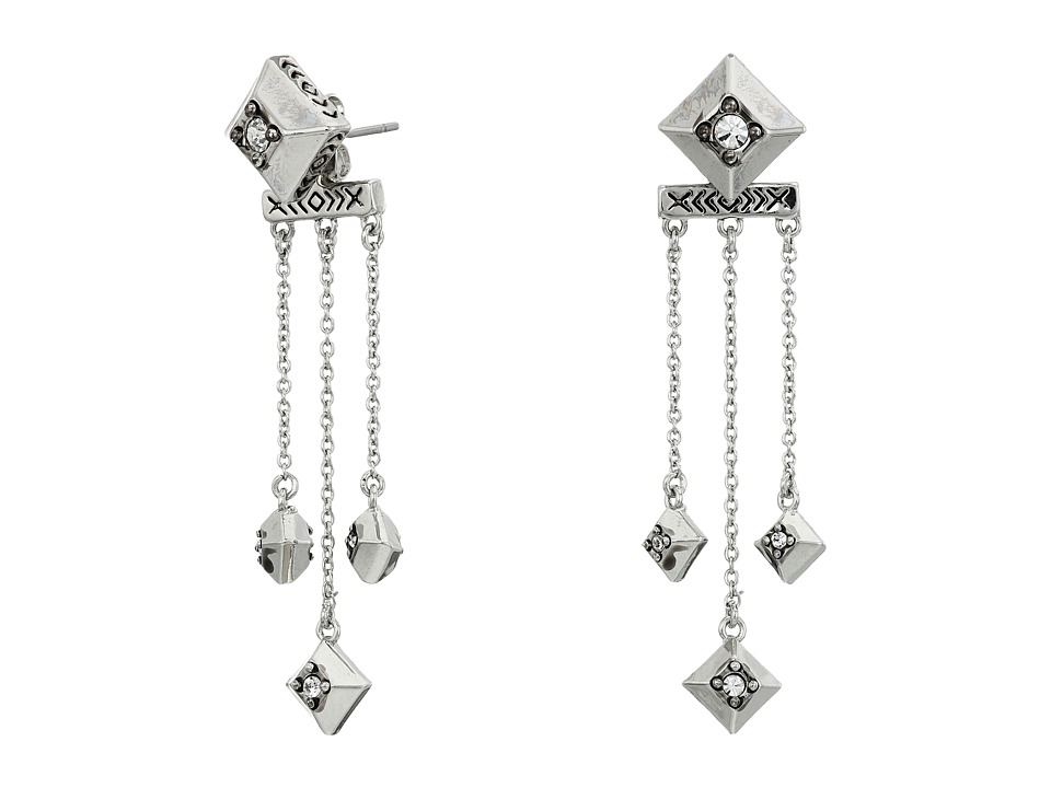 House of Harlow 1960 - The Lyra Dangle Earrings (Silver) Earring