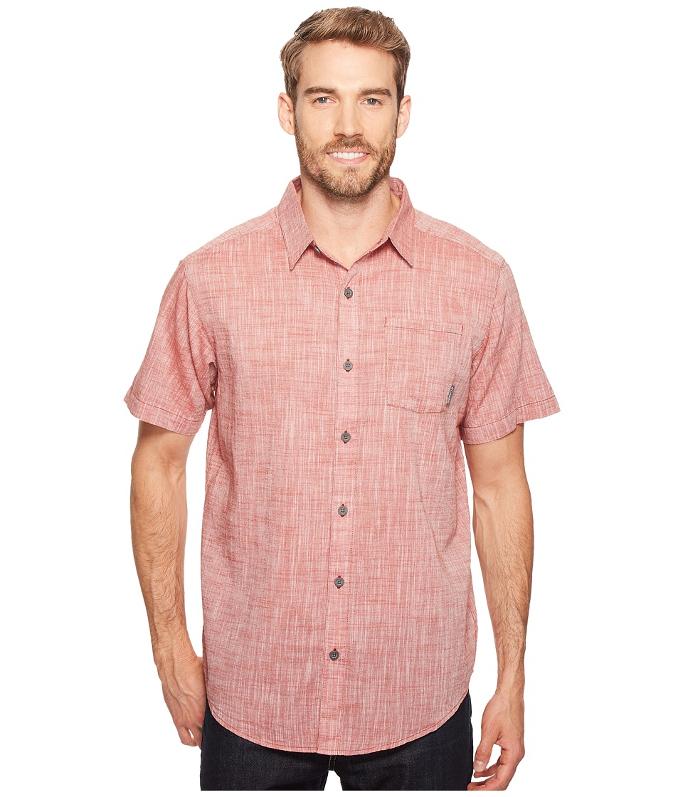 Columbia - Under Exposure Yarn-Dye Short Sleeve Shirt (Rusty) Men's Clothing