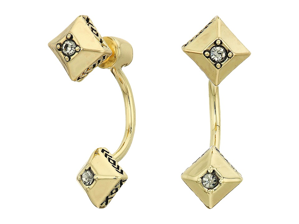 House of Harlow 1960 - The Lyra Ear Jacket Earrings (Gold) Earring