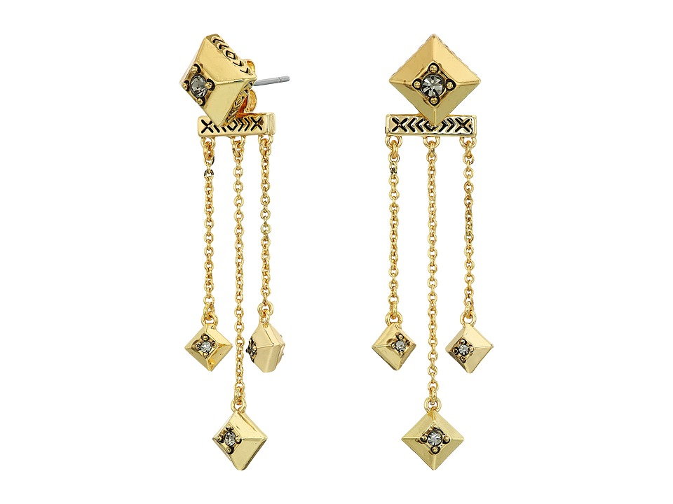 House of Harlow 1960 - The Lyra Dangle Earrings (Gold) Earring