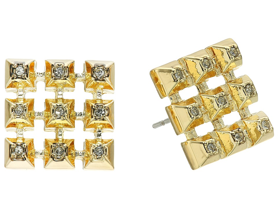 House of Harlow 1960 - The Lyra Button Earrings (Gold) Earring
