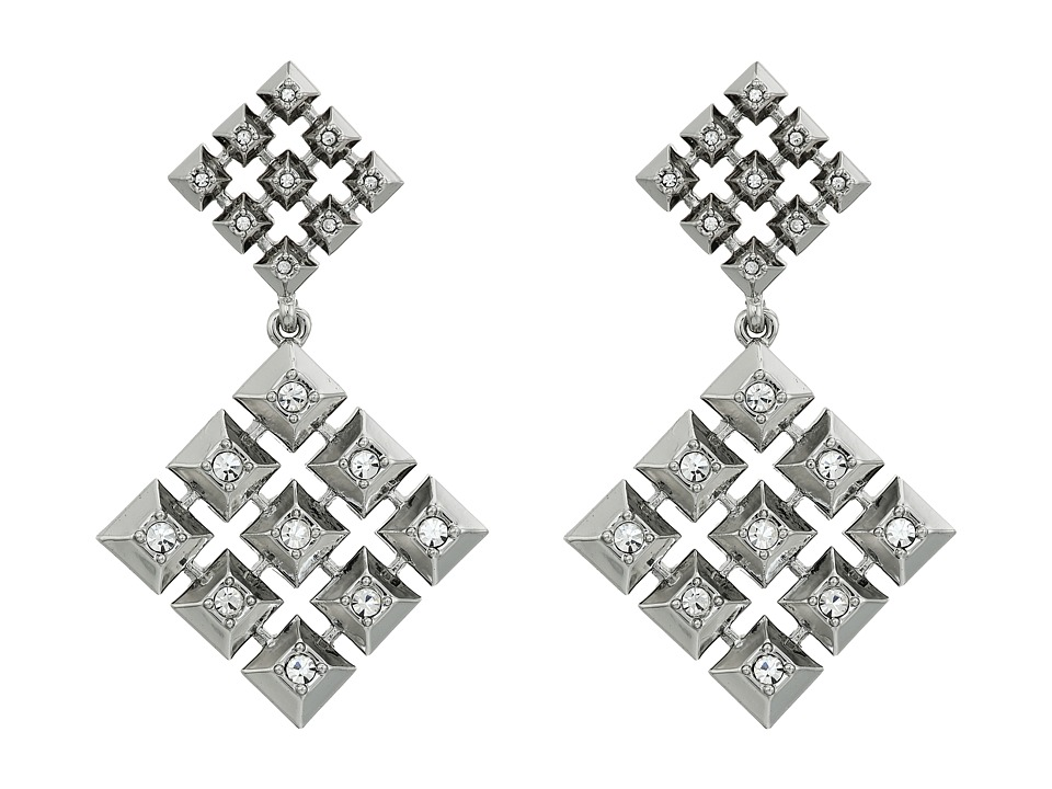 House of Harlow 1960 - The Lyra Statement Earrings (Silver) Earring