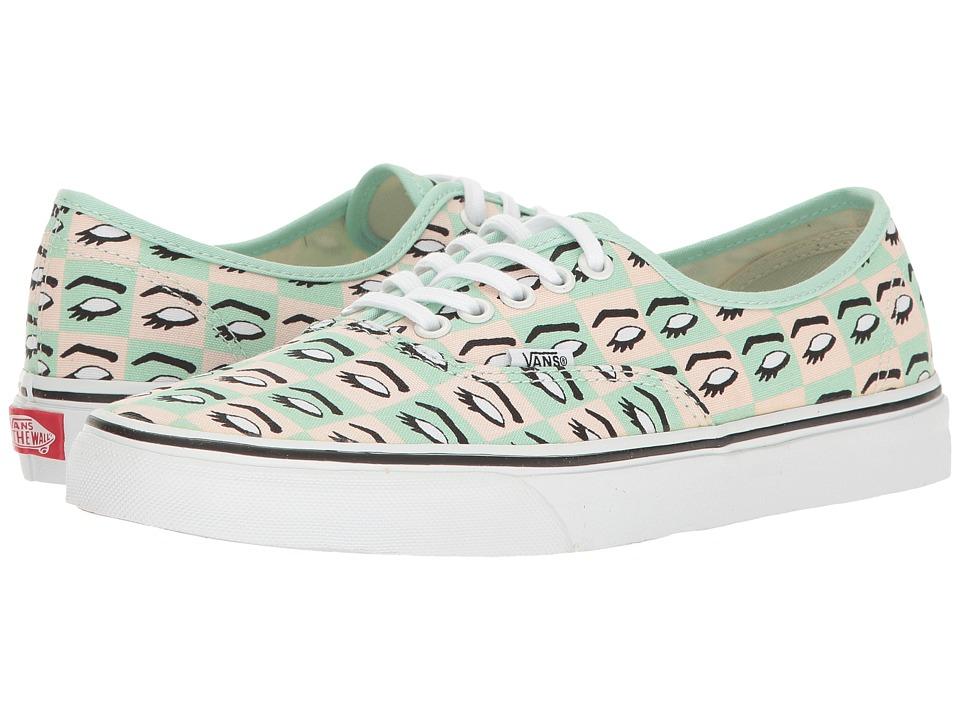 Vans - Authentictm ((Kendra Dandy) Mod Eye/True White) Skate Shoes