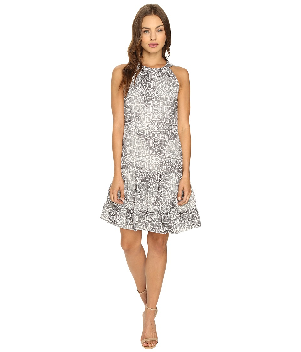 Christin Michaels - Leah Halter Woven Dress (Grey/Ivory) Women's Dress