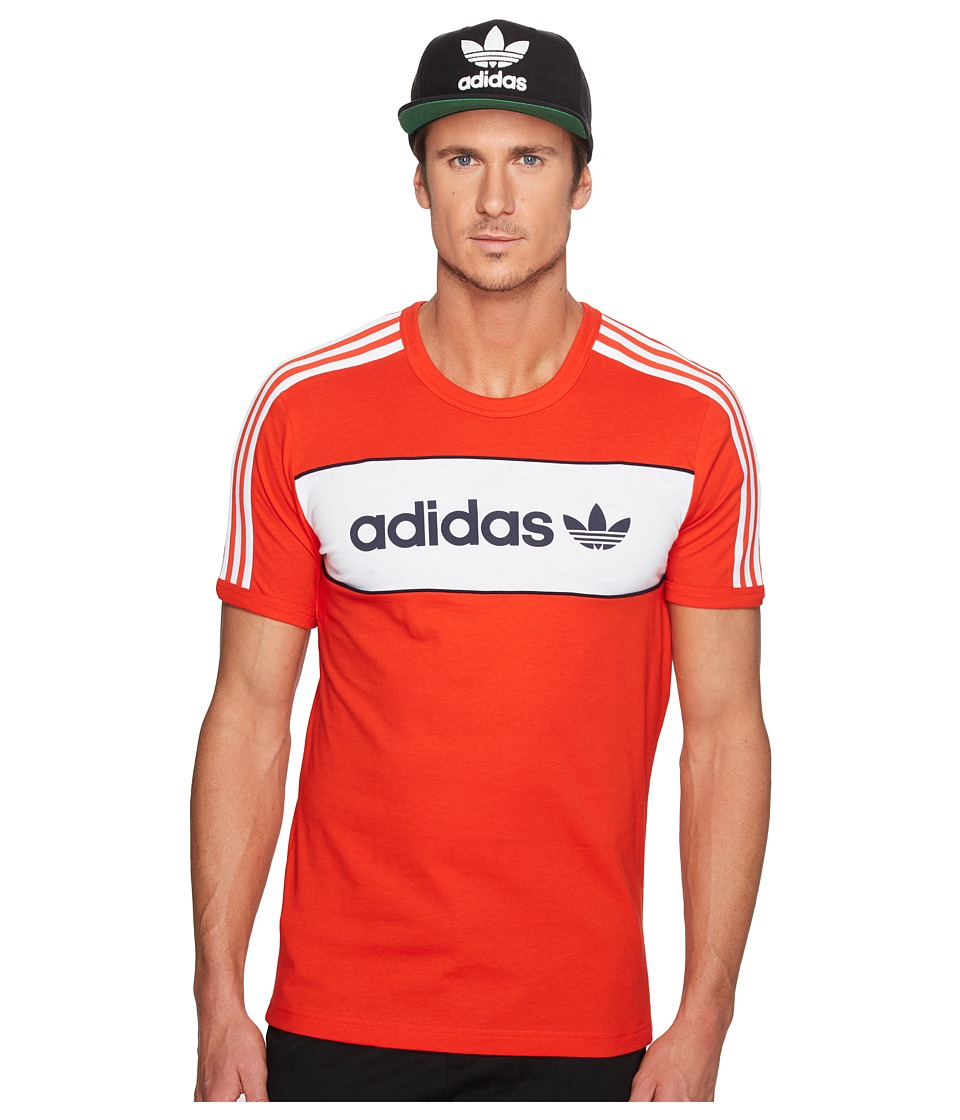 adidas Originals - Block Tee (Core Red) Men's T Shirt