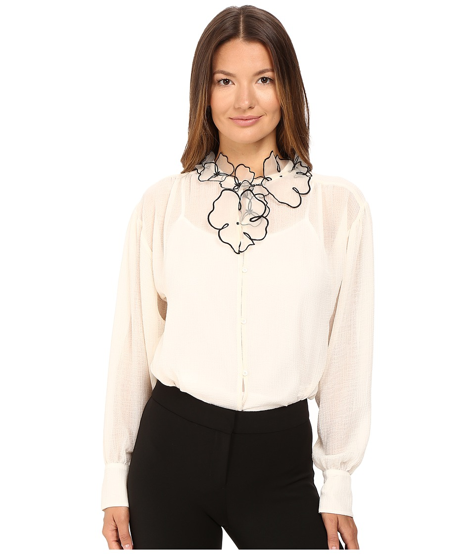 See by Chloe - Georgette Blouse with Floral Detailing (Winter White) Women's Blouse