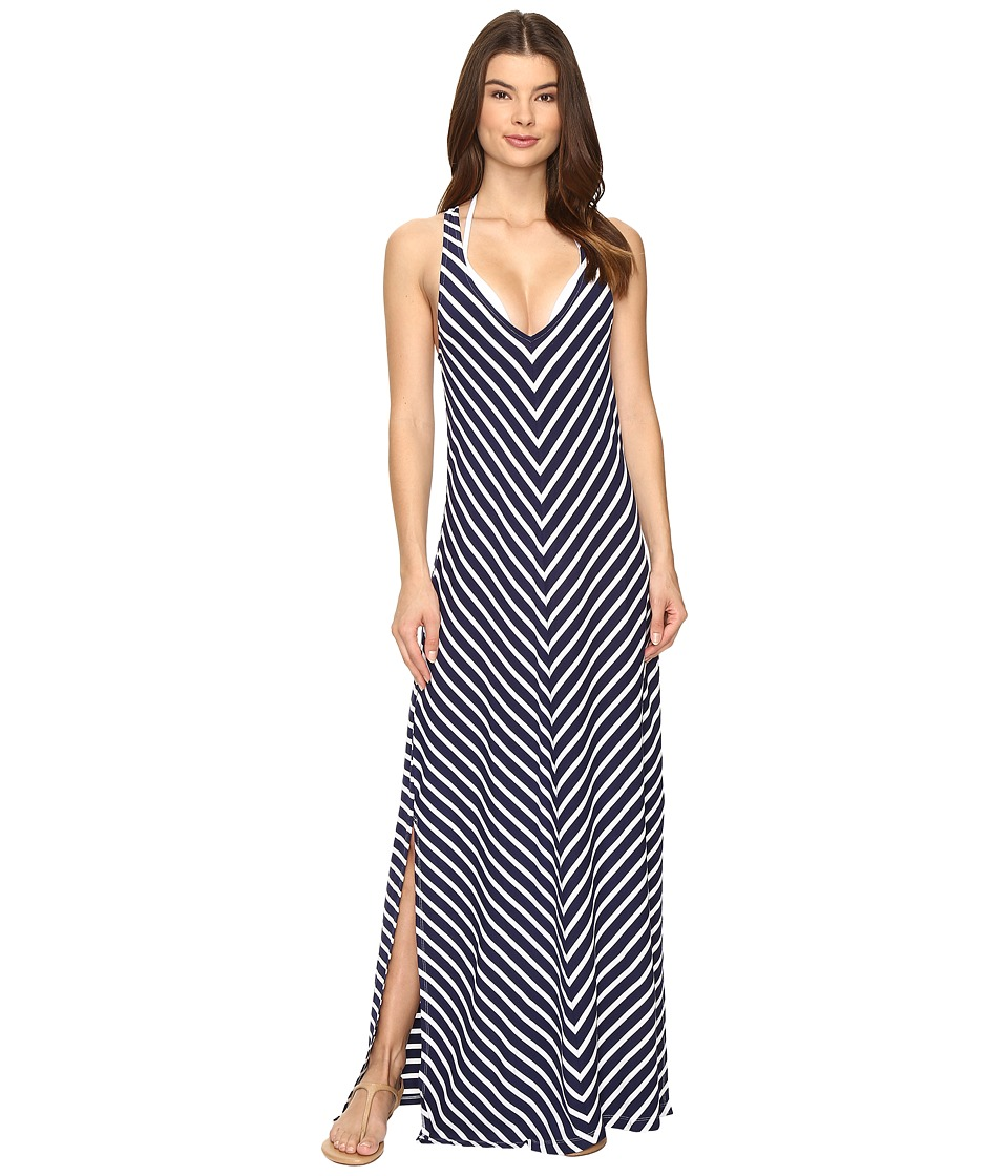 Tommy Bahama Breton Stripe Racerback Maxi Dress Cover-Up (Mare Navy/White) Women