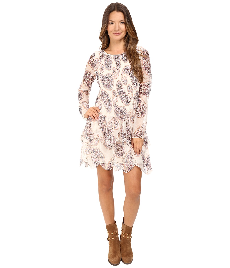 See by Chloe - Crepon Paisly Tier Dress (Winter White) Women's Dress