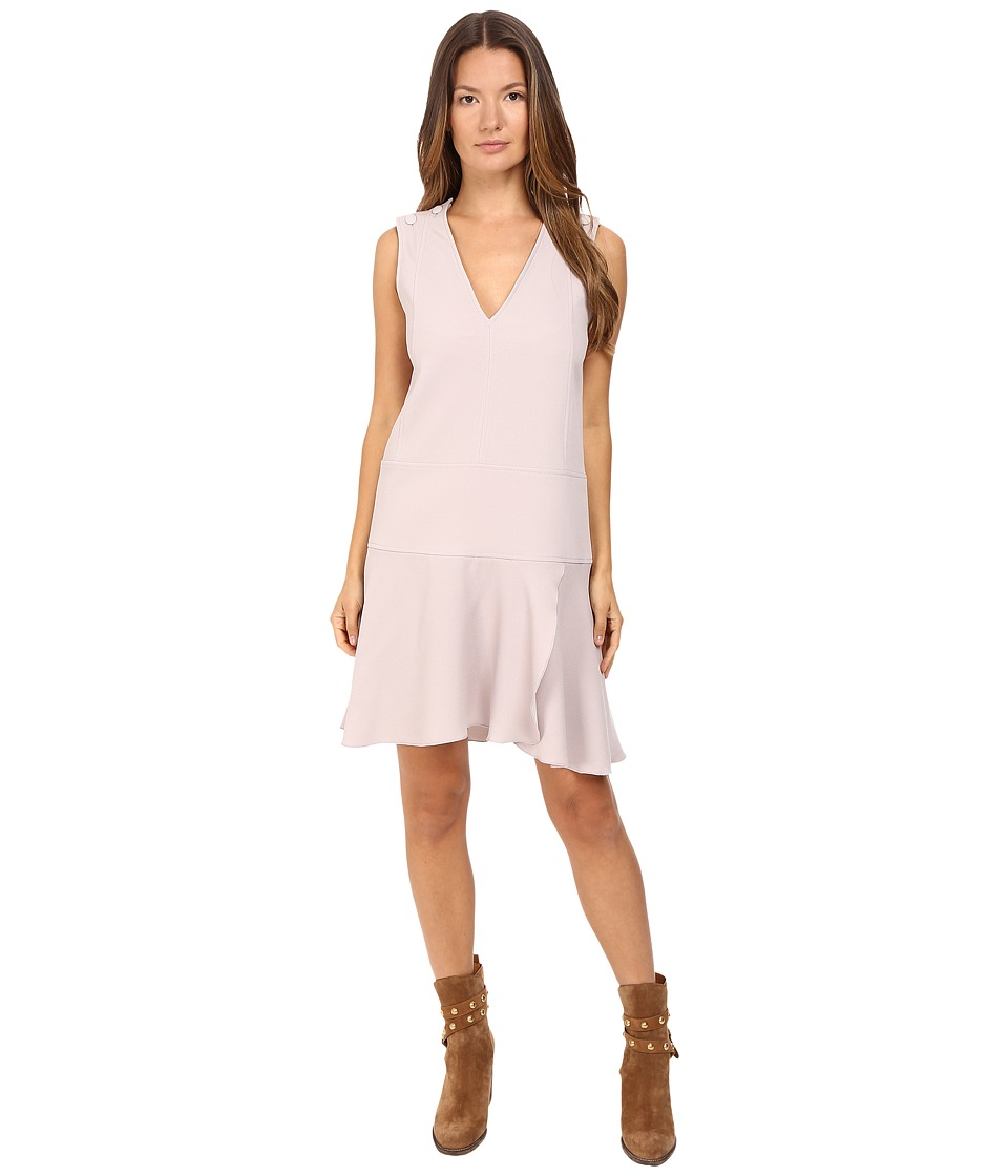 See by Chloe - Crepe Shift Dress (Aspen Light Grey) Women's Dress