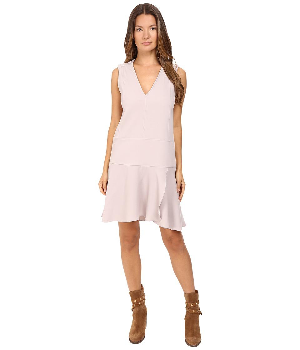 See by Chloe - Crepe Shift Dress (Aspen Light Grey) Women's Dress