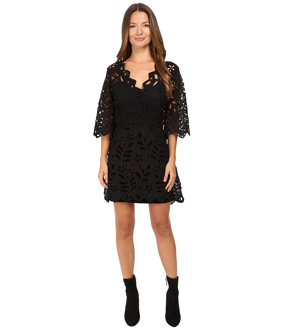 See by Chloe Velvet Floral Lace Dress (Black) Women