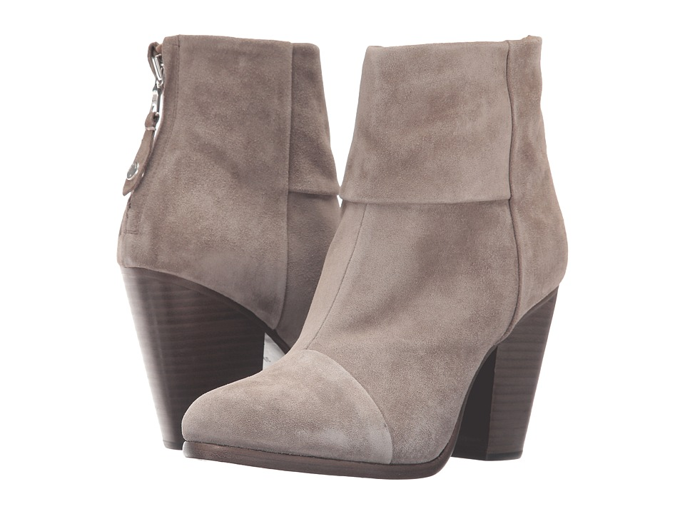 rag & bone - Classic Newbury (Warm Grey Suede) Women's Shoes