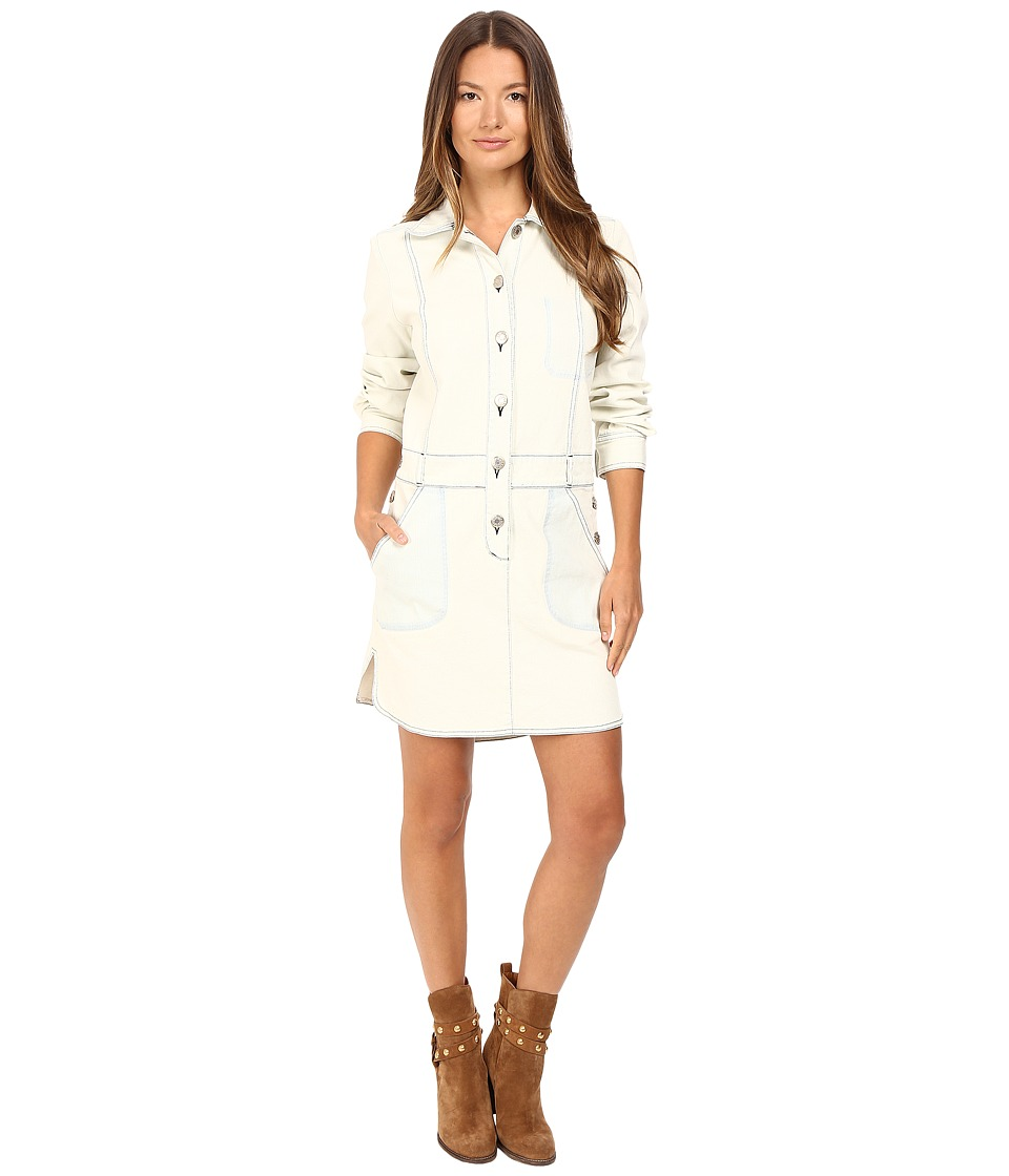 See by Chloe - Denim Button Down Dress (Barly Blue) Women's Dress