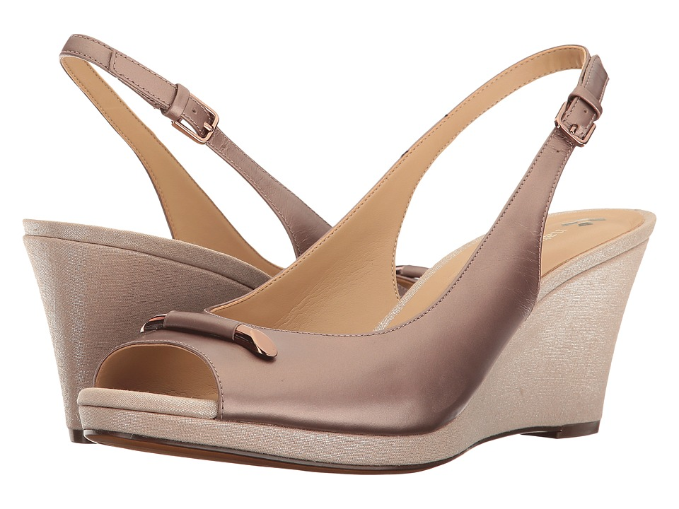Naturalizer - Oleander (Bonze Metallic Leather) Women's Wedge Shoes