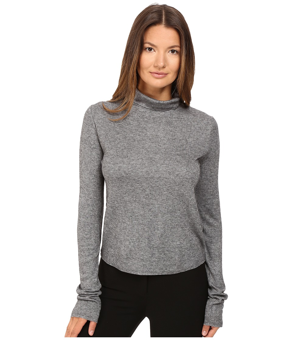 See by Chloe - Jersey Turtleneck with Sheer Back (Grey) Women's Clothing