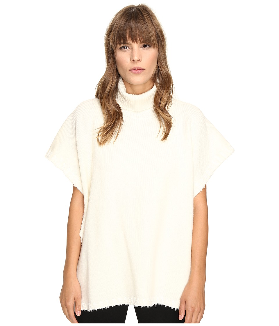 See by Chloe - Turtleneck Poncho (Natural White) Women's Clothing