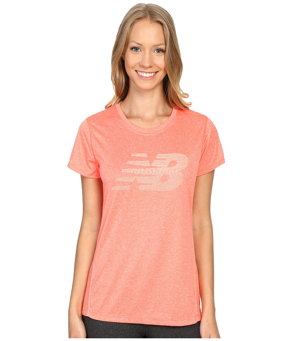New Balance - Heather Short Sleeve Tee Graphic (Dragon Fly Heather) Women's T Shirt