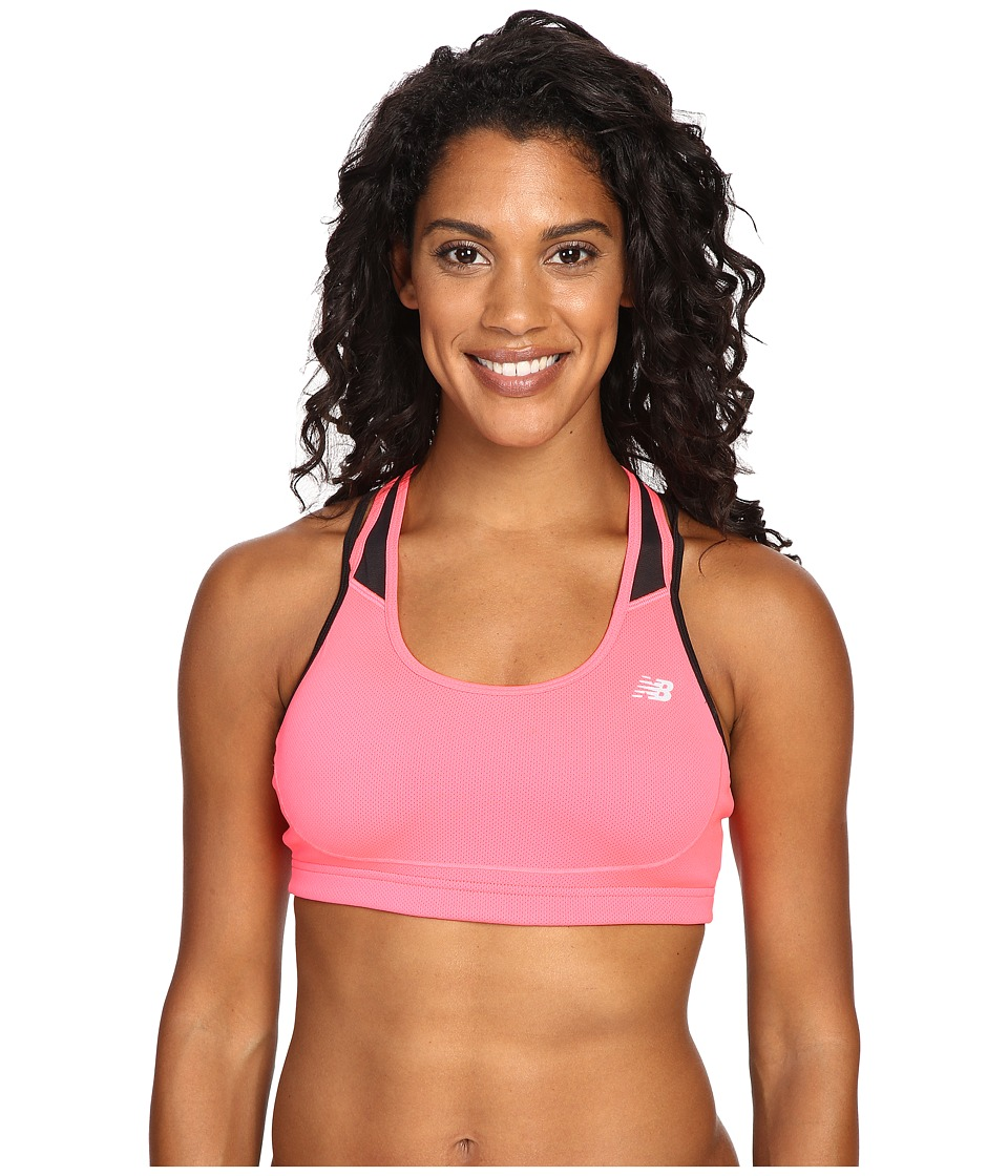 New Balance - The Tonic Crop Bra (Pink Zing) Women's Bra