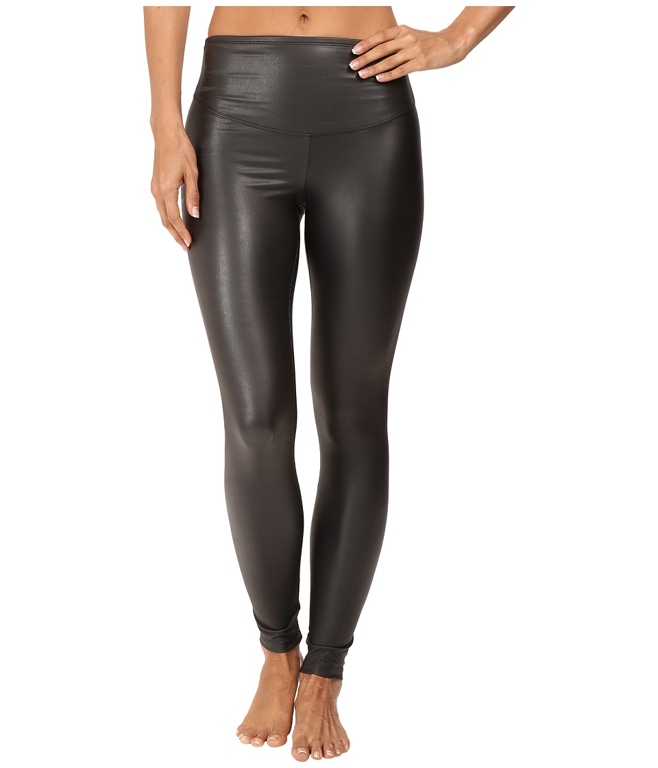Yummie by Heather Thomson - Tony Faux Leather Leggings (Black) Women's Casual Pants