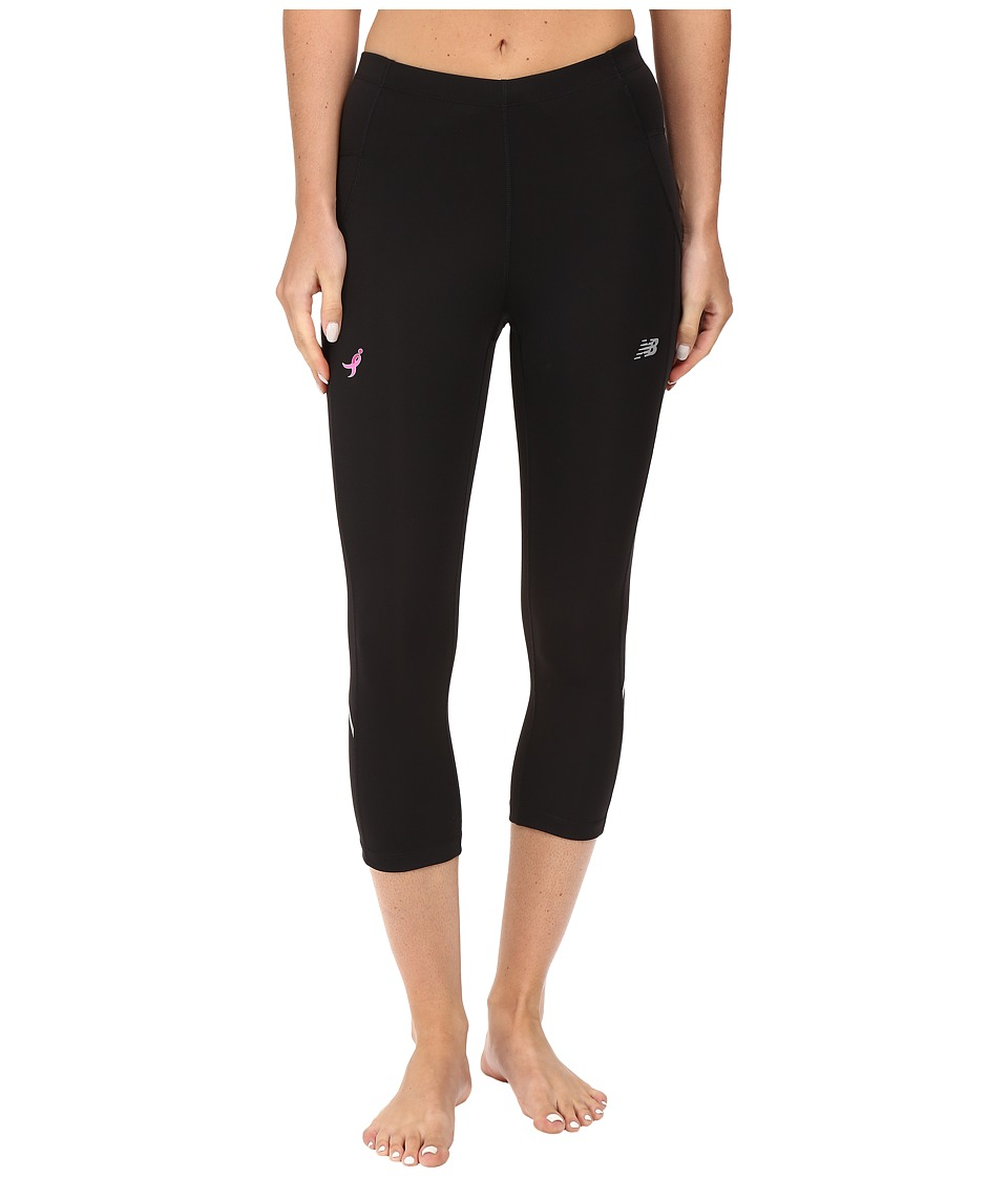 New Balance Komen Accelerate Capris (Black) Women