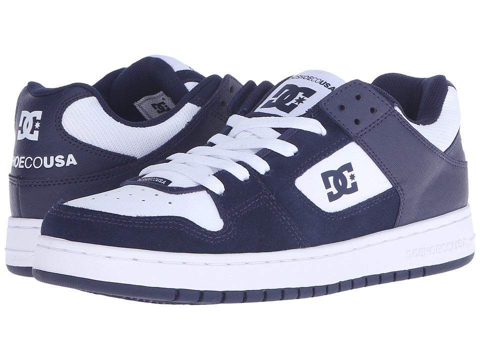 DC - Manteca (Navy/White) Men's Shoes