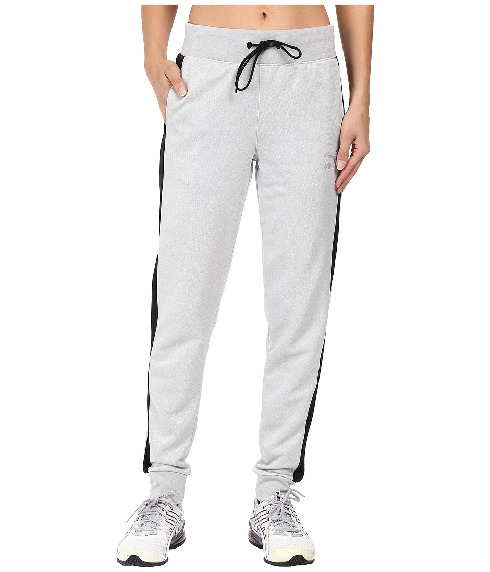 PUMA - No.1 Logo Track Pants (Light Gray Heather/Black) Women's Casual Pants