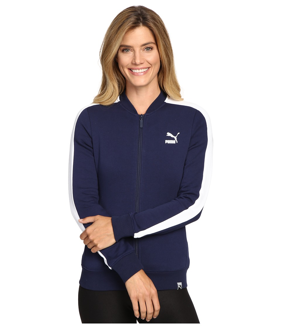 PUMA - T7 Track Jacket (Peacoat) Women's Coat