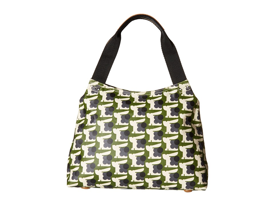 Orla Kiely - Matt Laminated Baby Bunny Print Classic Zip Shoulder Bag (Grass) Handbags