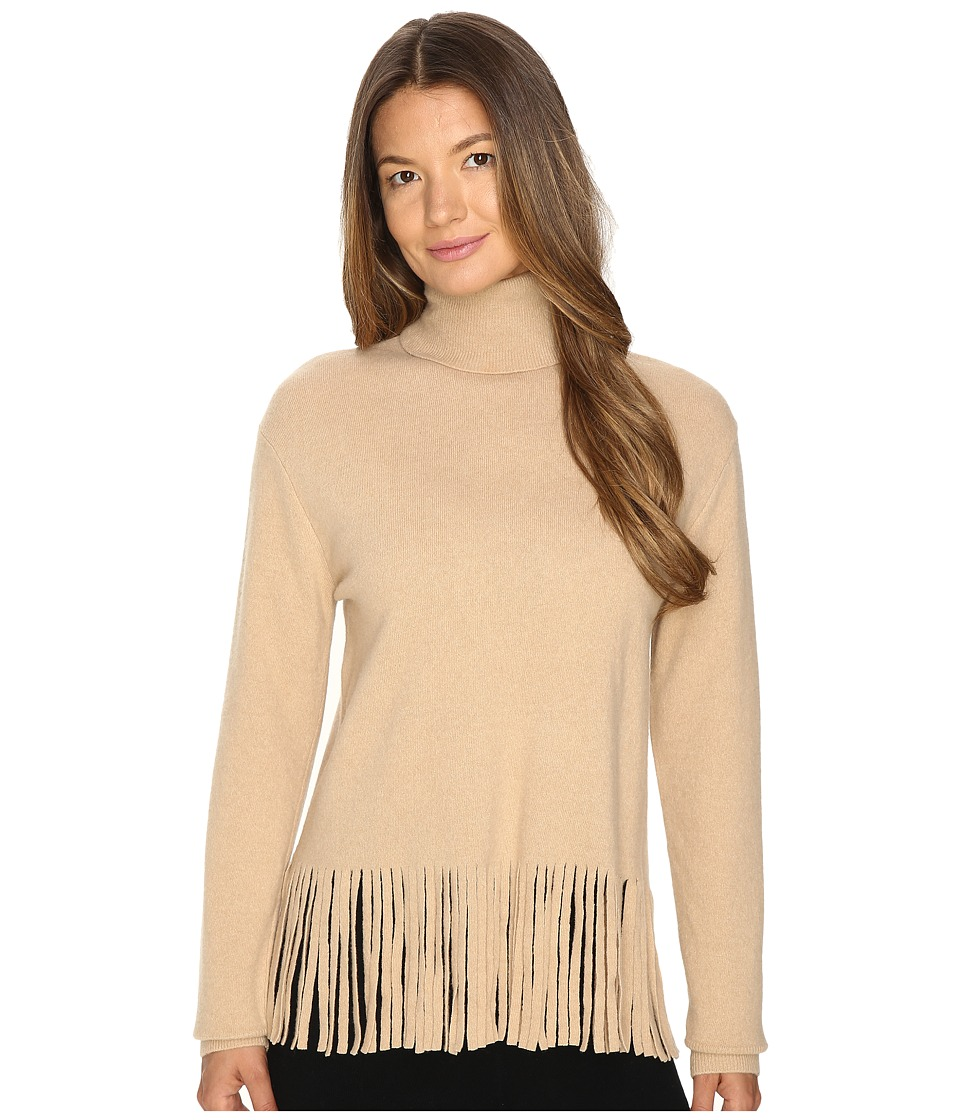 Boutique Moschino - Sweater with Fringe (Camel) Women's Sweater