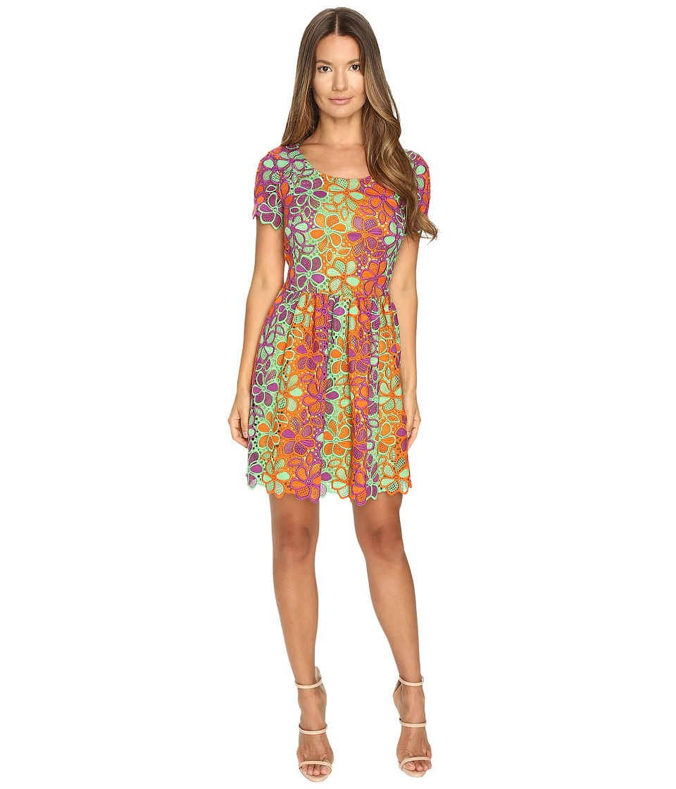 Boutique Moschino Multicolor Lace Dress