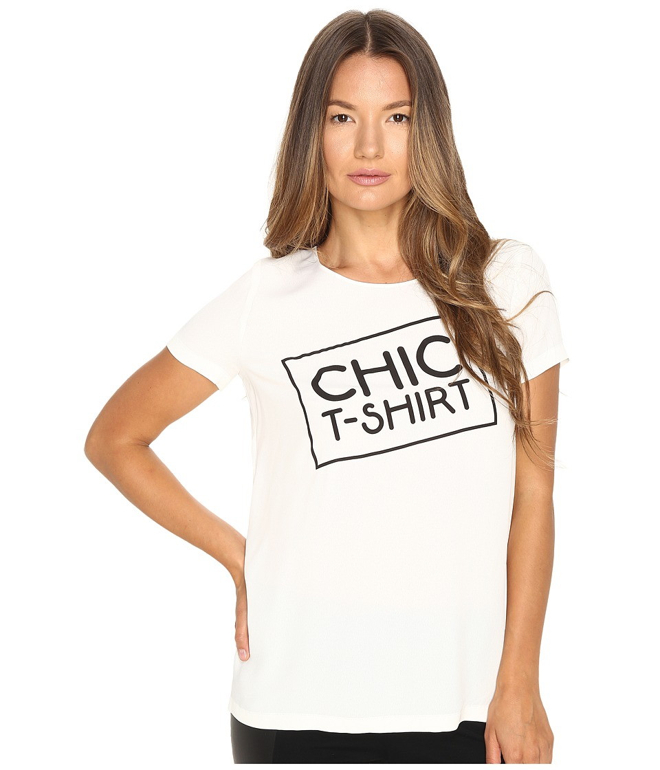 Boutique Moschino - Chic T-Shirt (White) Women's T Shirt
