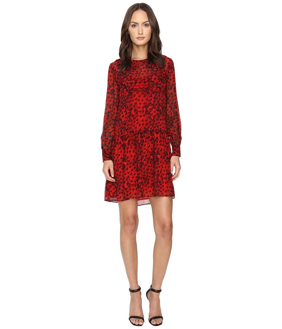 Boutique Moschino - Snake Heart Dress (Red) Women's Dress