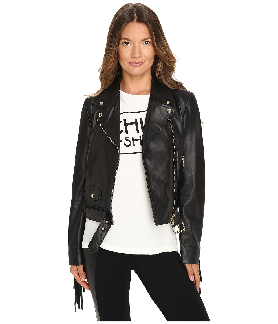Boutique Moschino - Biker Jacket (Black) Women's Coat