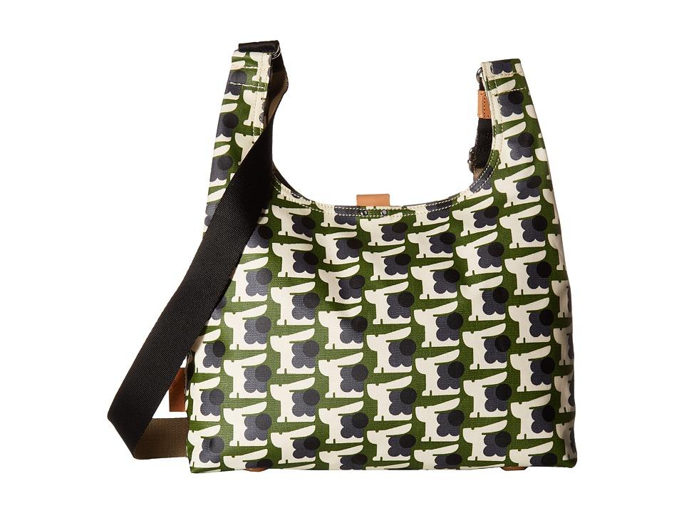 Orla Kiely - Matt Laminated Baby Bunny Print Midi Sling Bag (Grass) Handbags