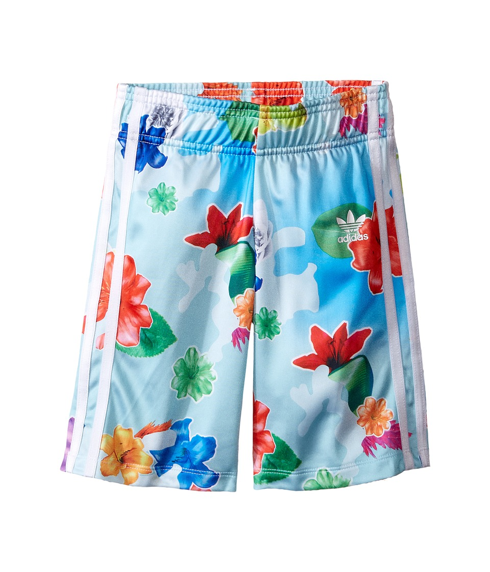 adidas Originals Kids - Flower Shorts (Toddler/Little Kids/Big Kids) (Multicolor/White) Girl's Shorts